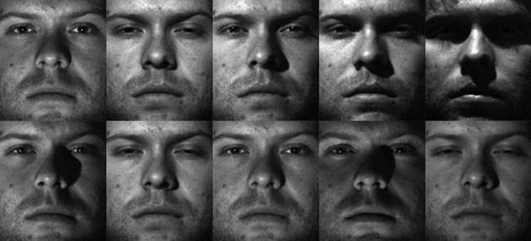 З них для тестування було відібрано по 10 зображень на кожне обличчя.  Приклад зображень з другої бази облич представлений на рис. 2 92ede54340ccd